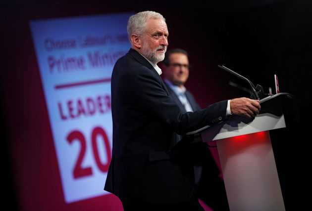 Labour leader Jeremy Corbyn at thehustings in