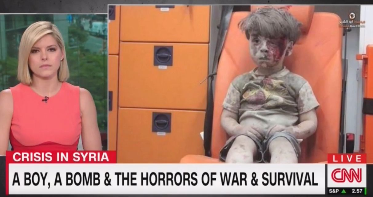 CNN's Kate Bolduan Starts To Cry Detailing Story Of Bloodied Syrian Child Omran