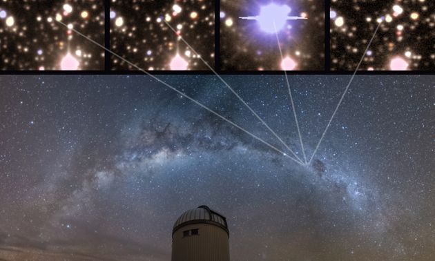 Astonishing Images Show A Star During And After It