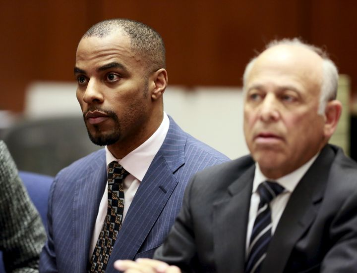 Darren Sharper in a 2015 court appearance. He was sentenced to18 years in federal prison.