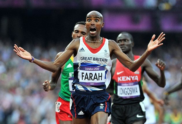 Farah wins the 5,000m at the London 2012