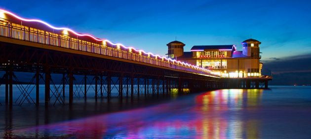 Tourist numbers to the southwest English town of Weston-super-Mare have been boosted in the year since