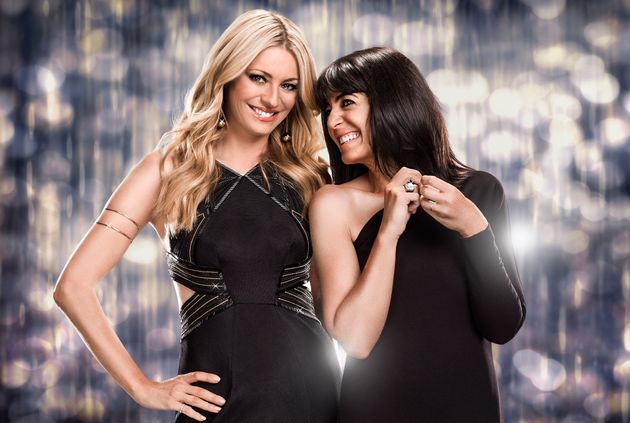 Hosts Tess Daly and Claudia