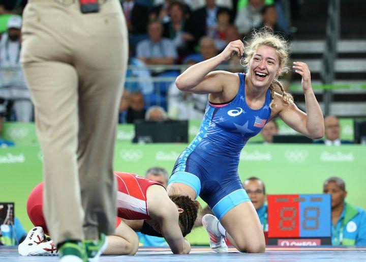 Helen Maroulis defeatsSaori Yoshida 4-1 to win the first Olympic wrestling gold ever for U.S. women.
