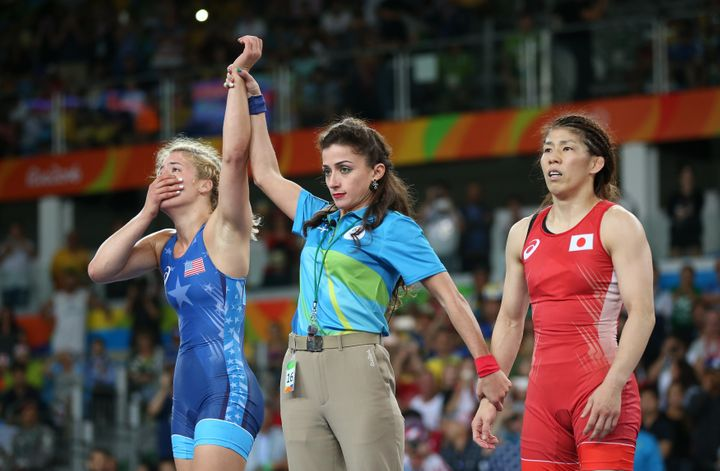 Maroulis ended the three-Olympic gold medal reign of Japan's Saori Yoshida.