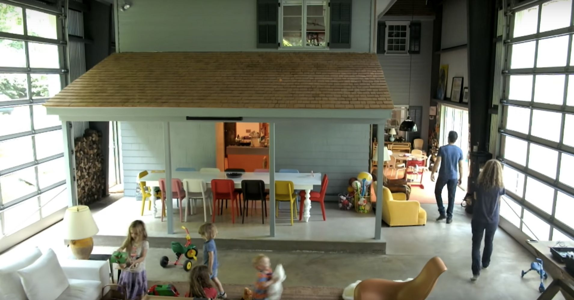 This Family S House Is Inside An Aircraft Hangar And It S