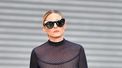 Olivia Palermo Shows Absolutely No Fear In A Super Sheer Top