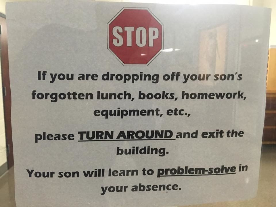 Principal Steve Straessle said this sign is a reminder of a school policy that has been around for decades.
