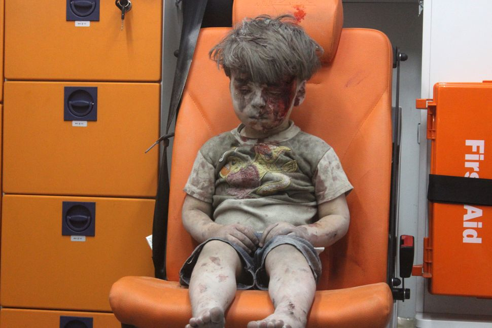 "Every once in a while <a href=""http://www.cnn.com/2016/08/17/world/syria-little-boy-airstrike-victim/"" target=""_blank"">a sing"