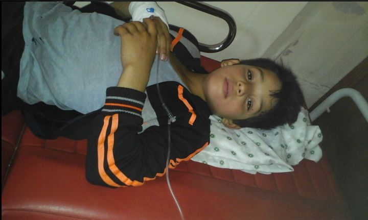 Yaman Ezzedine, 11 years old, was suffering from severe meningitis in the weeks prior his evacuation.