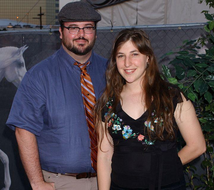 Mayim Bialik and ex-husband Michael Stonein 2004.