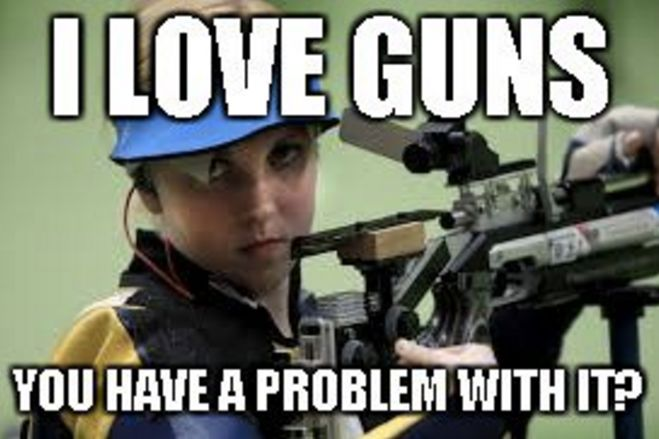 One of a number of memes based on Ginny Thrasher.