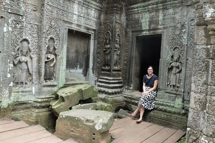 Taking in the ruins in Siem Reap, Cambodia