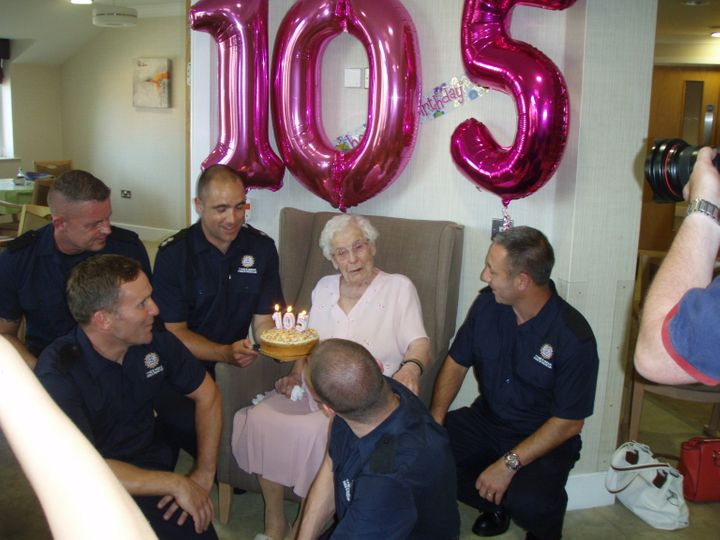 The 105-year-old at her dream birthday bash.