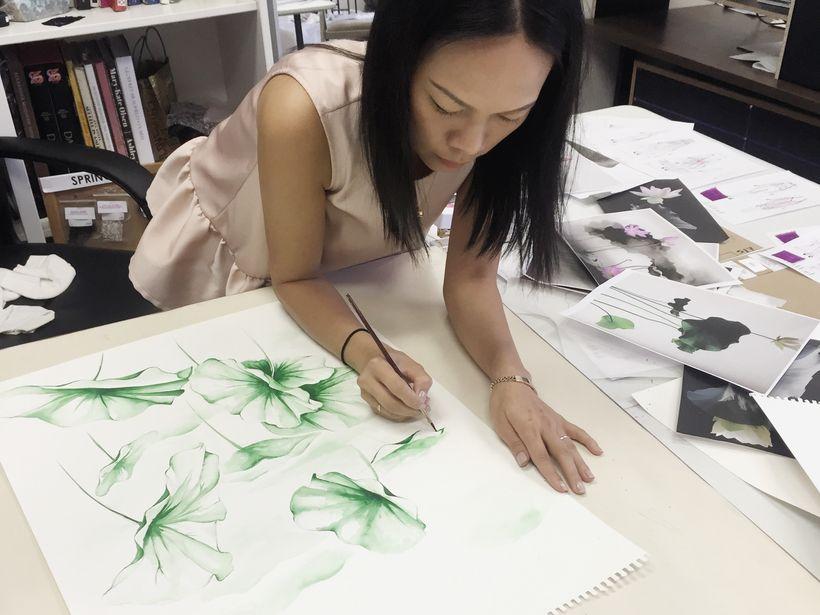 Khanh Nguyen in her design studio.