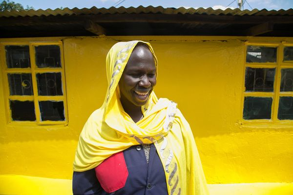 Like the color yellow, this woman radiates pure joy.