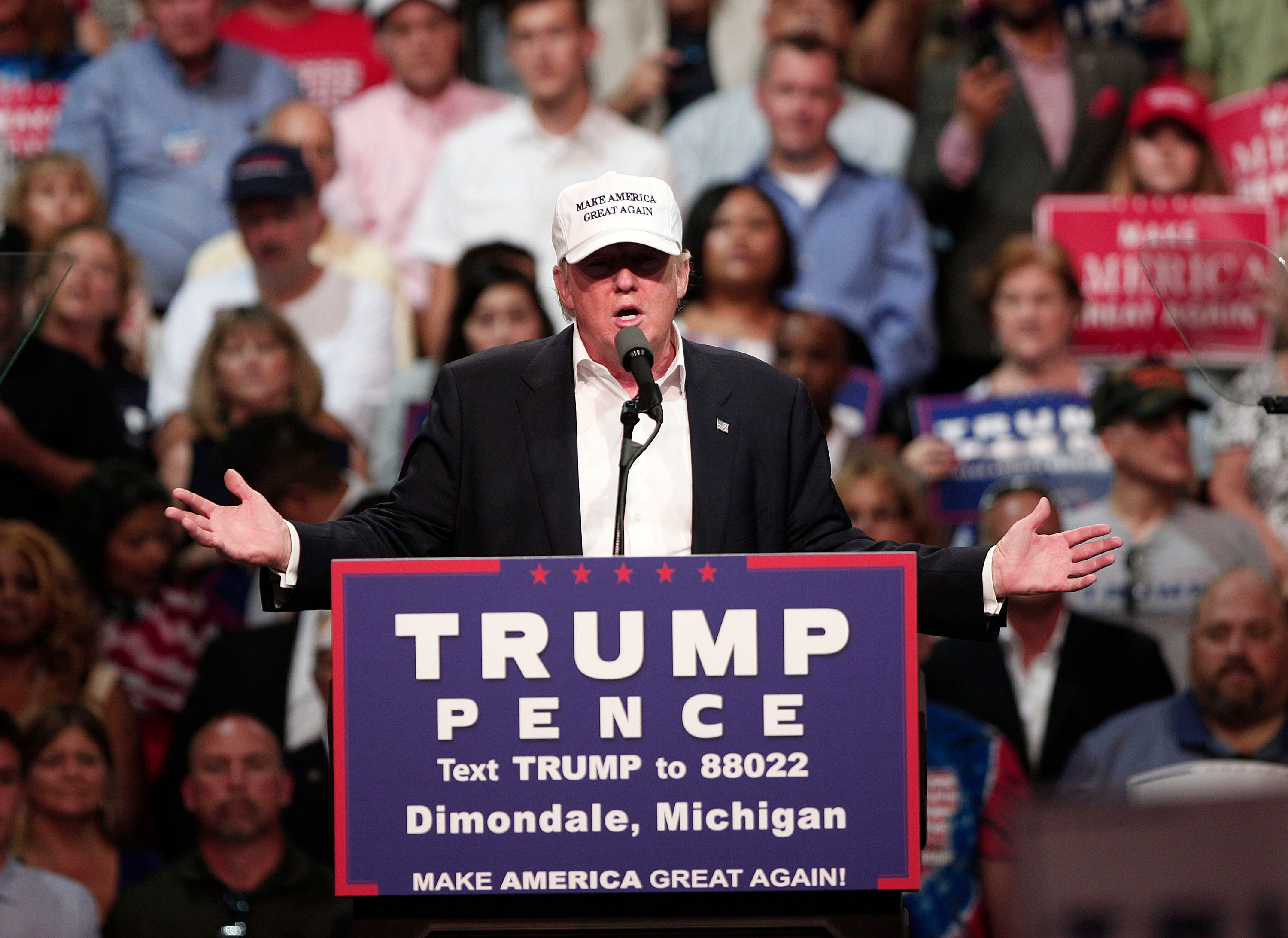 Donald Trumphas a history of treating racial groups as