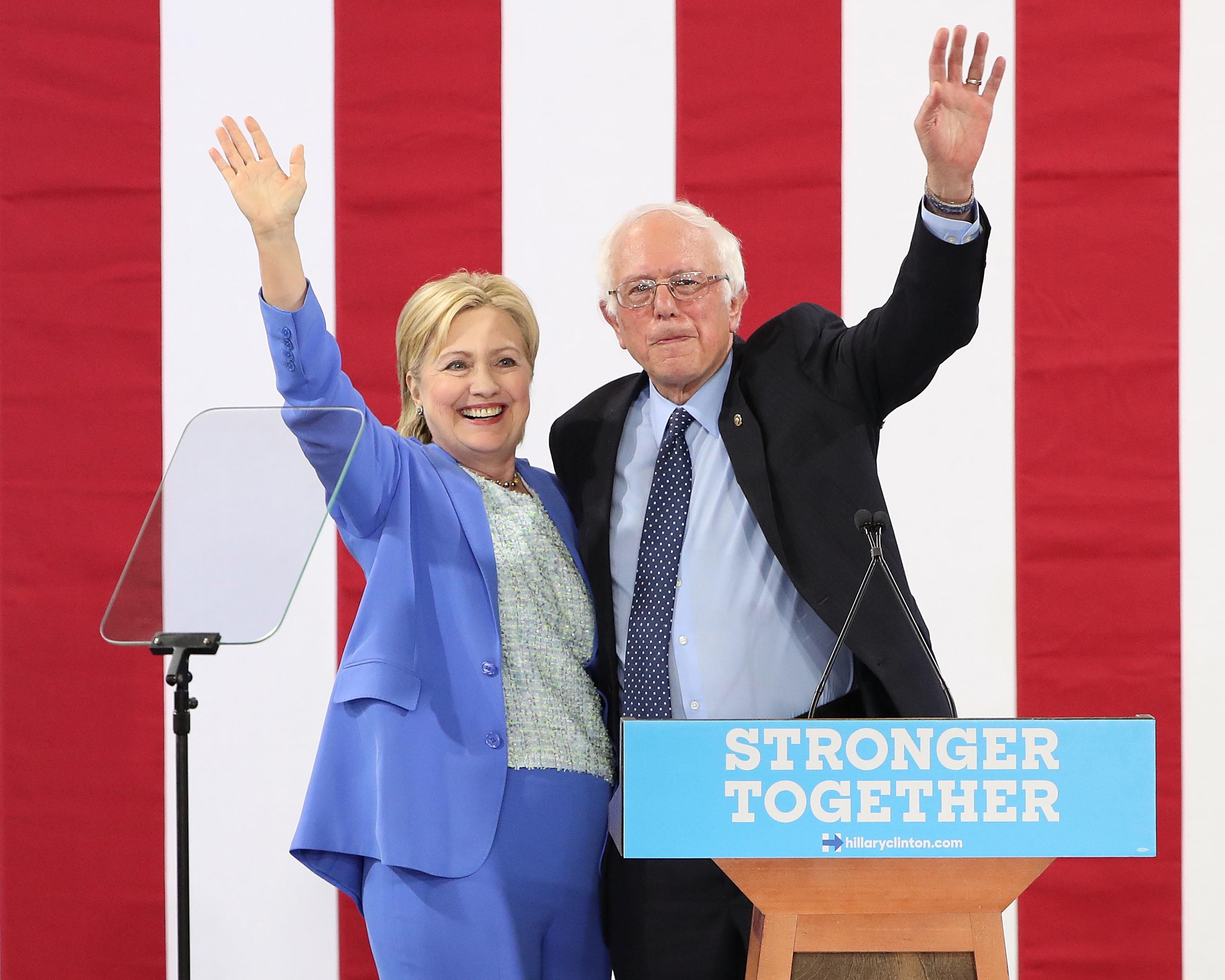Progressives wonder whether Hillary Clinton's embrace of independent Vermont Sen. Bernie Sanders' more populist policies will