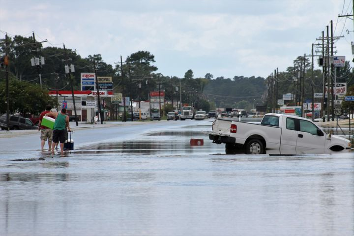Flooding has wreaked havoc across southern Louisiana, as seen here in a photo of Denham Springs.