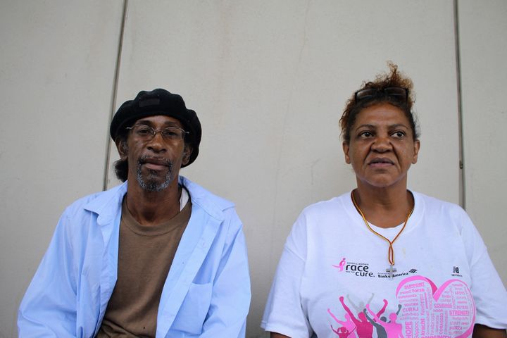 Anthony Bazile and Jean Pace fled New Orleans after Katrina. Once again, they've found themselves displaced by flooding.