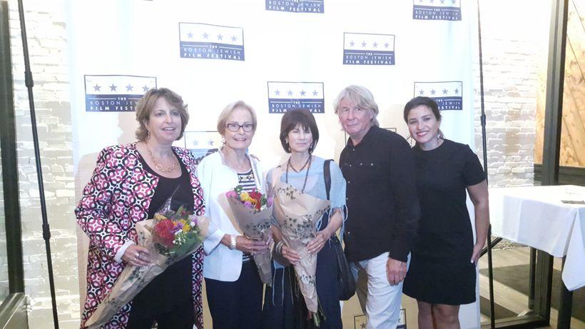 BJFF Executive Director Jaymie Saks, Judy Ganz, Levin, Clarke and BJFF Artistic Director Ariana Cohen-Halberstam