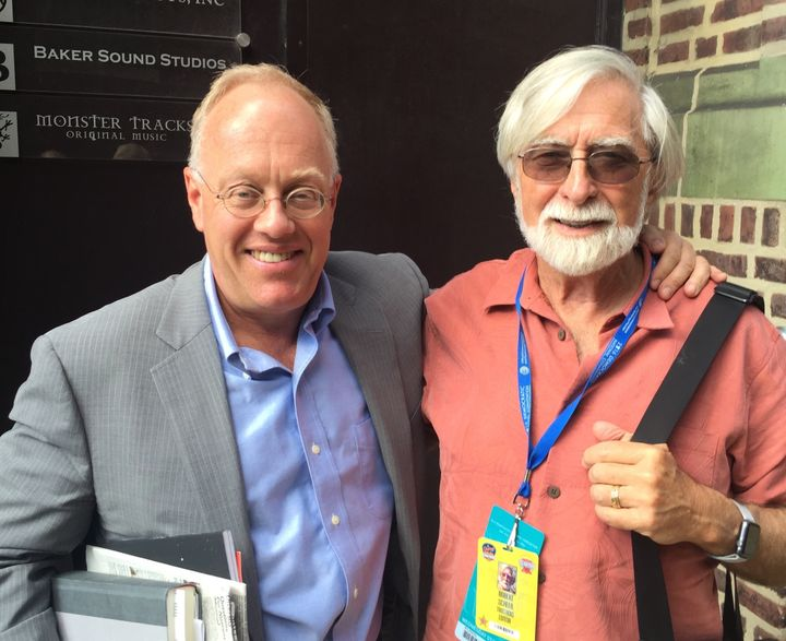 Chris Hedges and Robert Scheer in Philadelphia, July 2016.