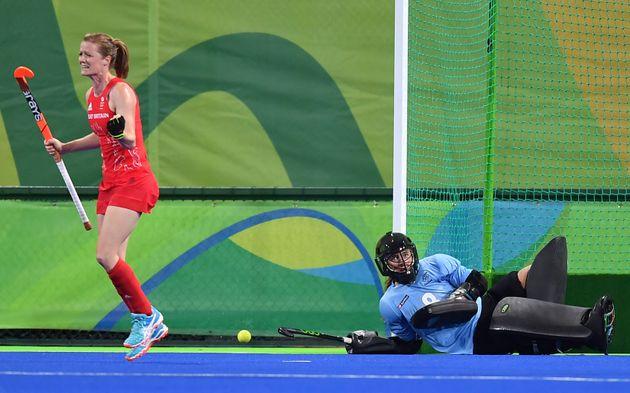 Helen Richardson-Walsh scores the decisive