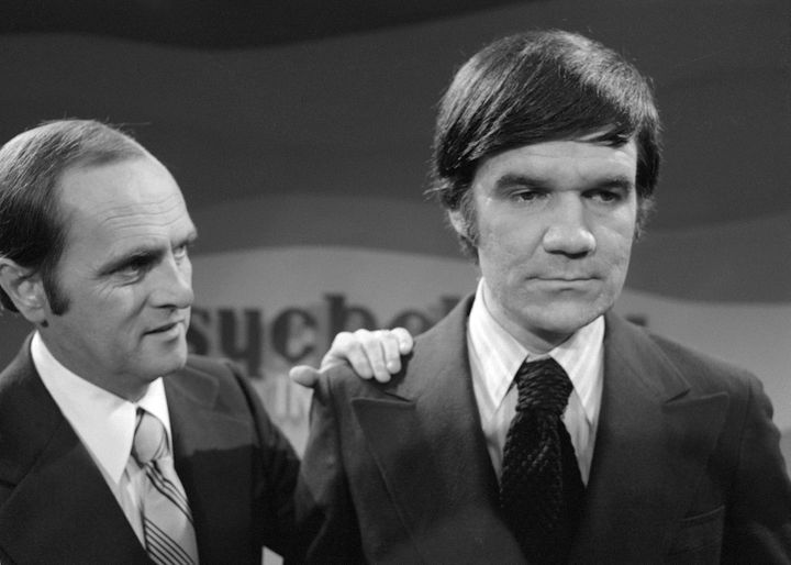 "Jack Riley (right) appears on 'The Bob Newhart Show"" in 1973."