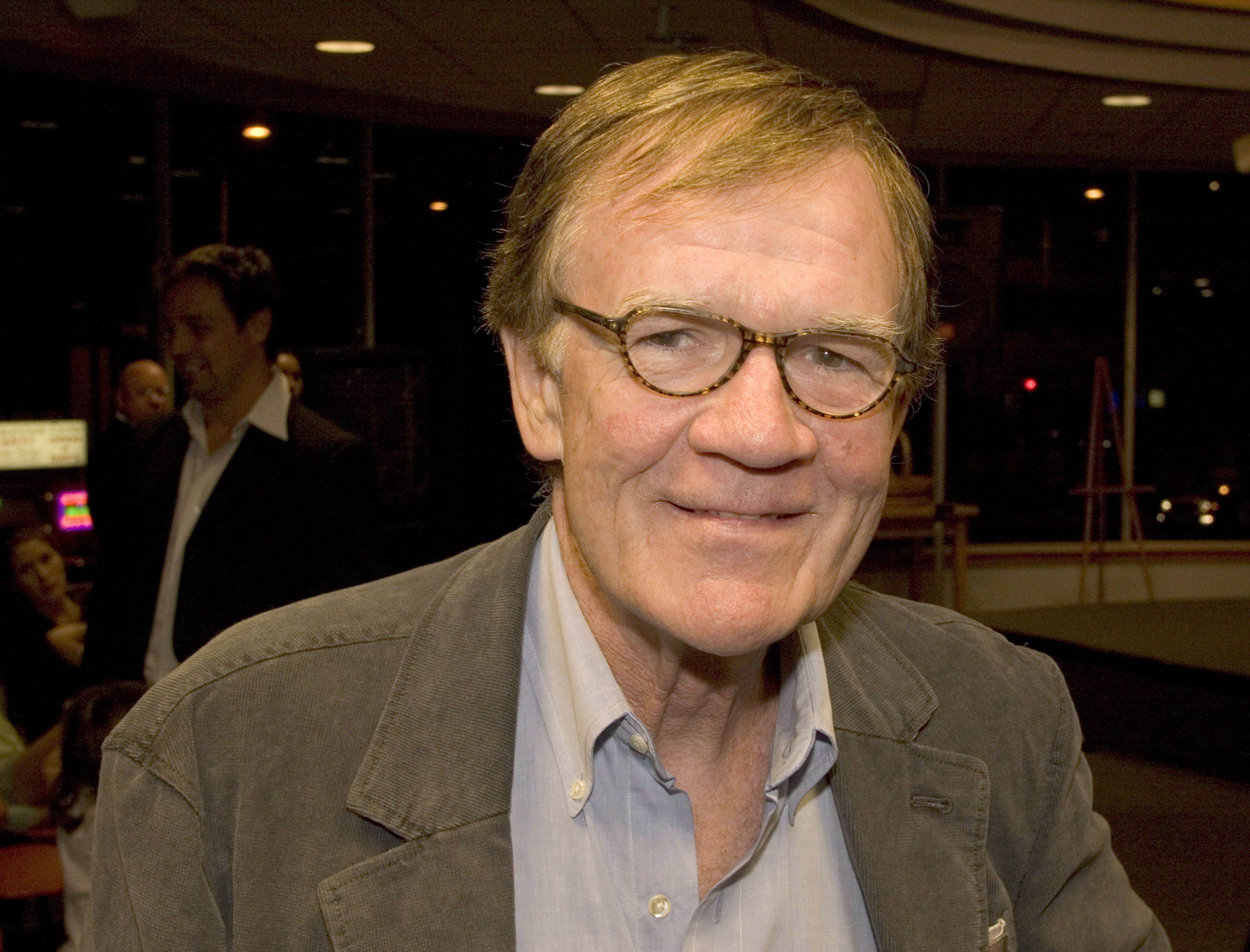 Jack Rileyduring a Bob Newhart in-store book signing at Borders in Westwood,California.
