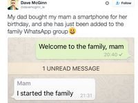 Mom Schools Everyone Her First Time Using Family WhatsApp Group