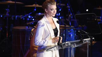 NEW YORK, NY - AUGUST 19:  Actress Natalie Dormer addresses the audience during the 2016 World Humanitarian Day: One Humanity Event at the United Nations on August 19, 2016 in New York City.  (Photo by Michael Loccisano/Getty Images)