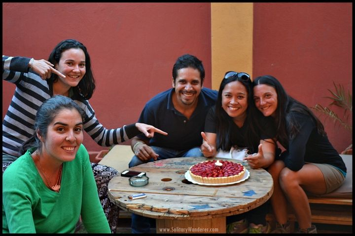 <p>Fellow volunteers and guests celebrated my first birthday abroad with me.</p>