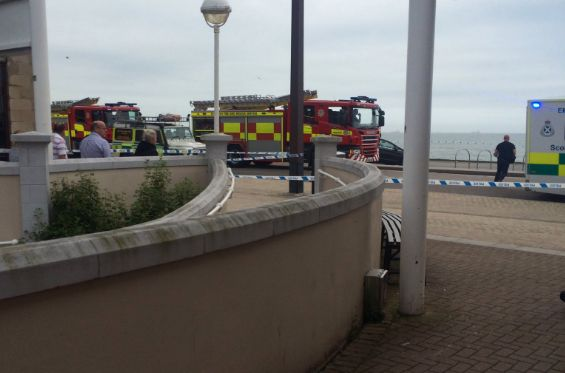 Multiple fire engines and ambulances attended the