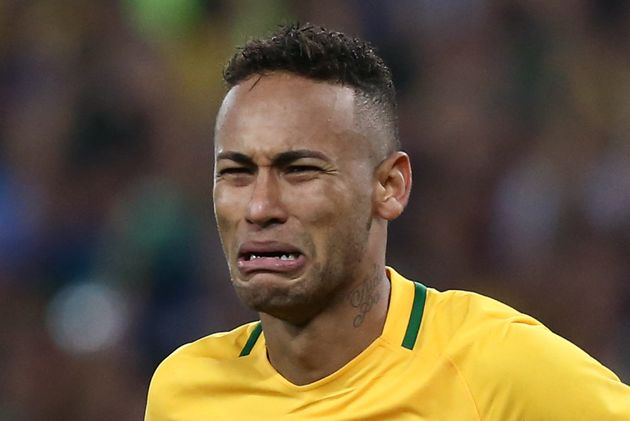 Brazil's star striker Neymar couldn't help crying after firing his country to its first-ever Olympic...