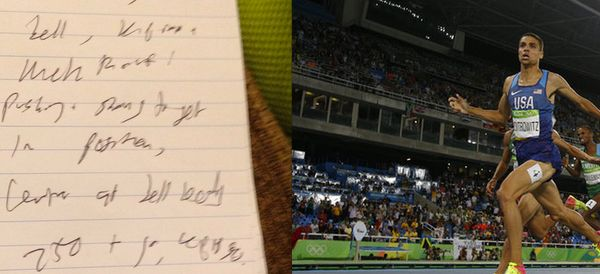 Journalist's Notepad Sums Up Everyone's Shock As Runner Wins Unexpected Olympic Gold