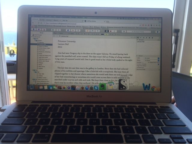 Getting it all down on Scrivener.