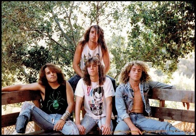 David Banks in one of his early metal bands.