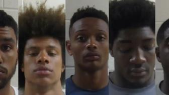 Notre Dame football players arrested