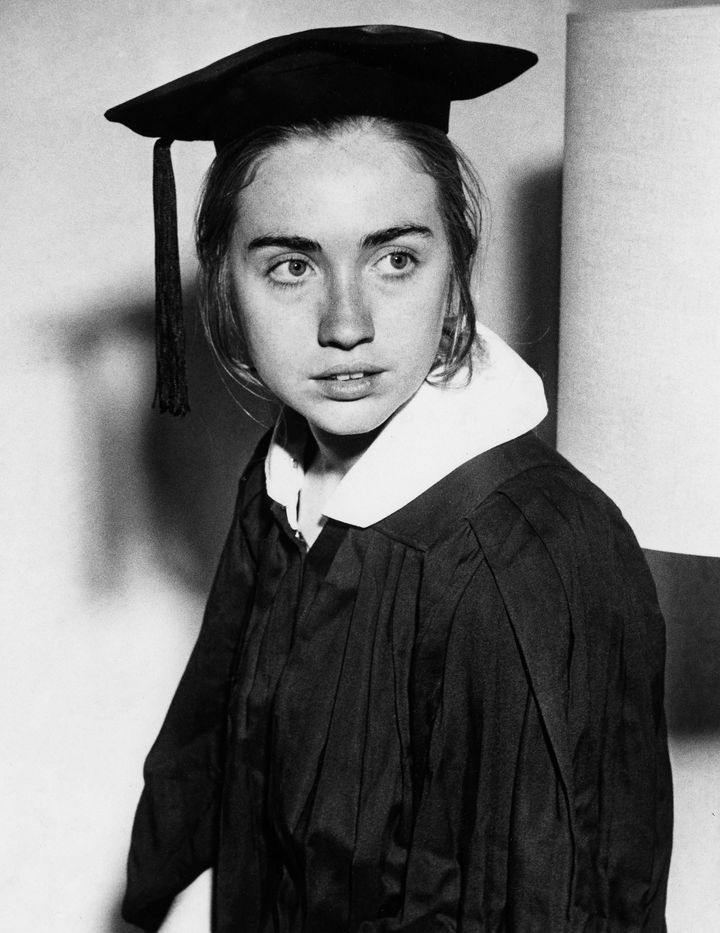 Age: 21, 1969, Rodham receives a B.A. with departmental honors in Political Science from Wellesley College.