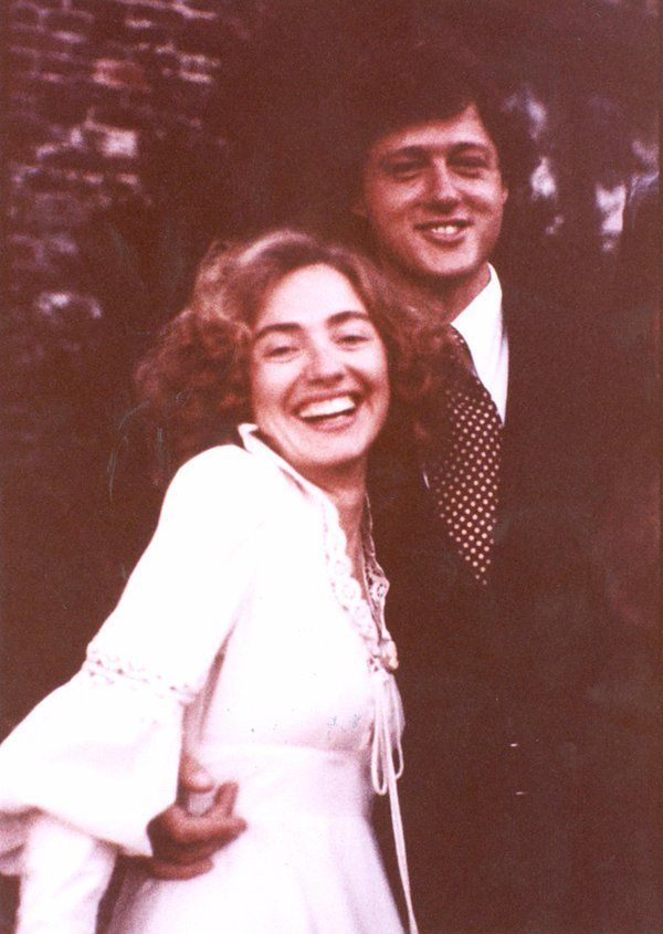 Age: 27, 1975, Hillary Rodham & William Clinton marry in their house in Fayetteville, AR; she retains maiden name.