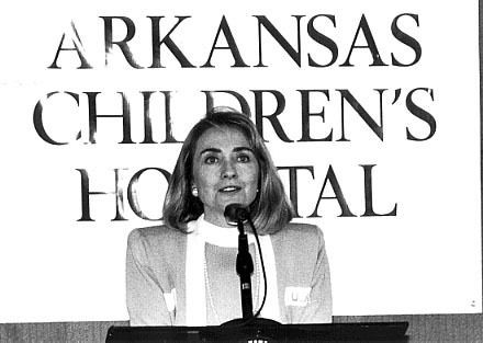 Age: 40, 1988, Rodham-Clinton joins the board of Arkansas Children's Hospital Legal Services.