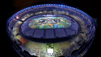 2016 Rio Olympics - Closing ceremony - Maracana - Rio de Janeiro, Brazil - 21/08/2016. Performers take part in the closing ceremony.    REUTERS/Pawel Kopczynski FOR EDITORIAL USE ONLY. NOT FOR SALE FOR MARKETING OR ADVERTISING CAMPAIGNS.