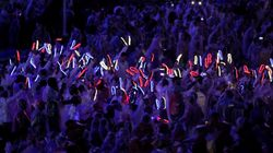 Team GB Rocked Up To Olympic Closing Ceremony Wearing Flashing 'Disco'