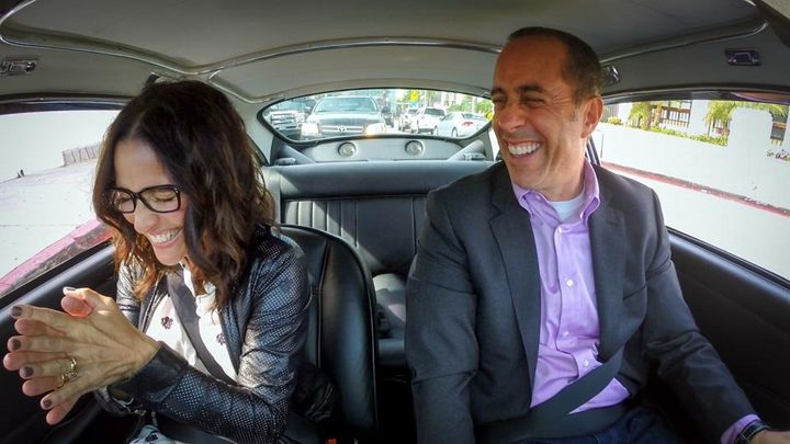 """This is Julia Louis-Dreyfus and Jerry Seinfeld <a href=""""http://comediansincarsgettingcoffee.com/julia-louis-dreyfus-ill-go-if"""
