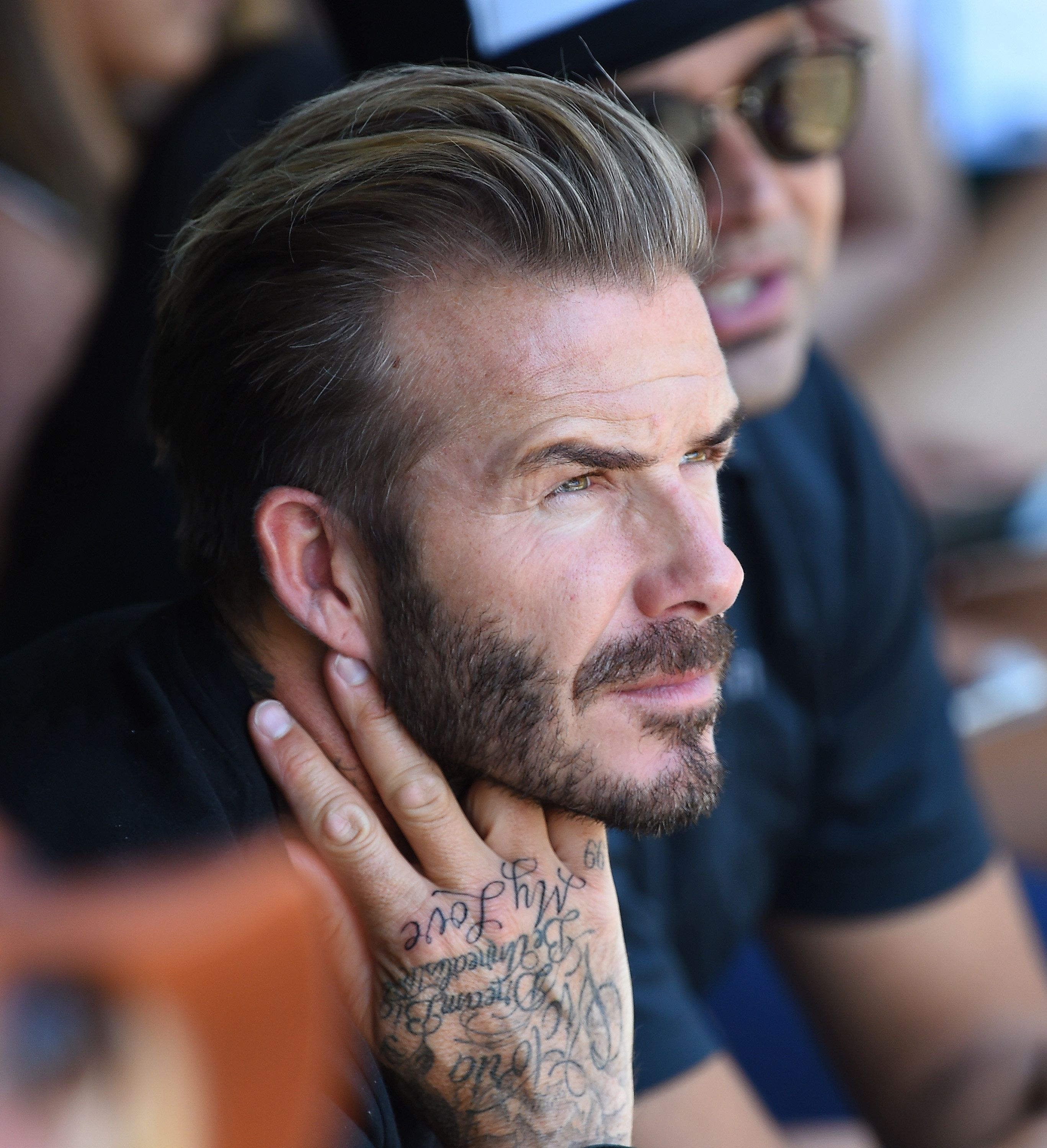Hair Style With Beard: David Beckham Gets Huge New Neck Tattoo Of A Horse