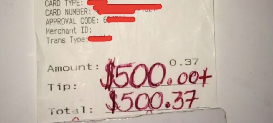 Waiter Who Helped Grieving Mum In Supermarket Receives $500 Tip From Her