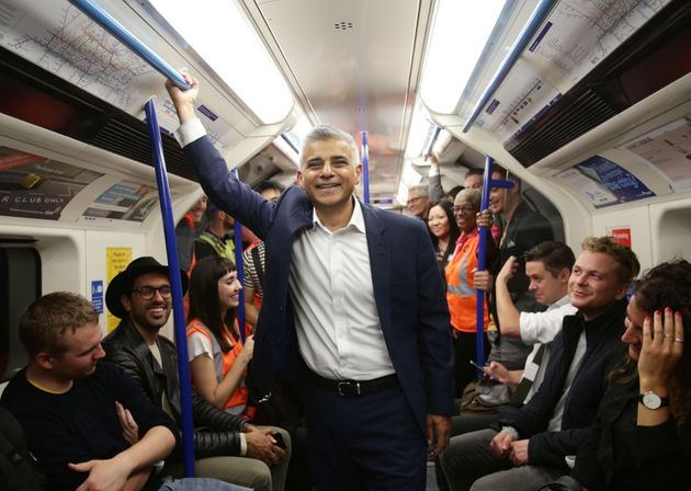 London mayor Sadiq Khan rides the night tube, he has endorsed Owen