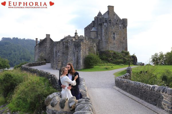 """""""Jacopo and Donata eloped at Eilean Donan Castle in the United Kingdom on August 17 in glorious summer sunshine. The castle p"""