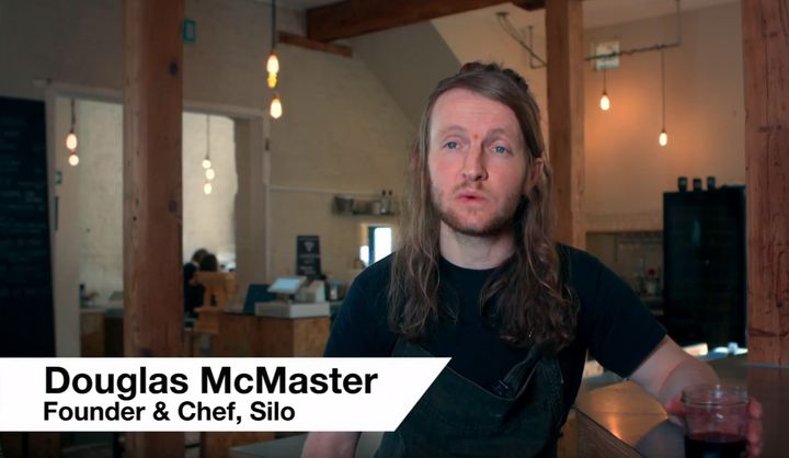 Doug McMaster runs the 'Zero Waste' restaurant in Brighton.