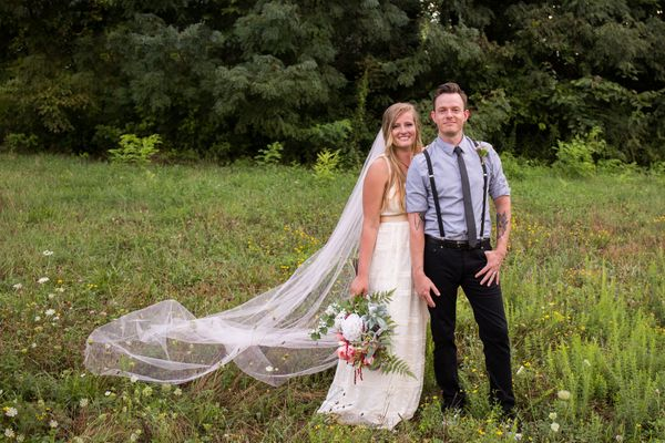 """""""Chris and Lauren were married in Knoxville, Tennessee on August 12."""" --<i>Suzanne McNeil</i>"""